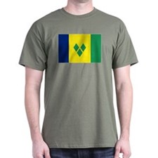 St Vincent & The Grenadines Nal flag T-Shirt
