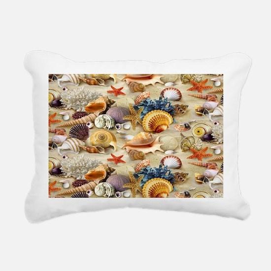 Seashell Rectangular Canvas Pillow