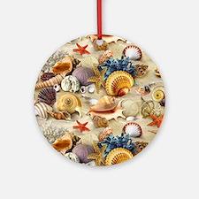 Seashell Round Ornament
