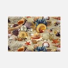 Seashell Rectangle Magnet