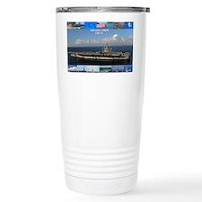 USS Carl Vinson Poster Ceramic Travel Mug