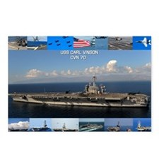 USS Carl Vinson Poster Postcards (Package of 8)