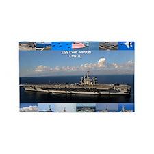 USS Carl Vinson Poster 3'x5' Area Rug
