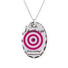 Yeah, I Shoot Like a Girl Necklace