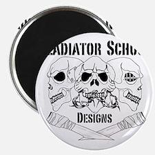 3 Skull Gladiator School Magnet