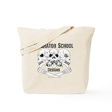 3 Skull Gladiator School Tote Bag