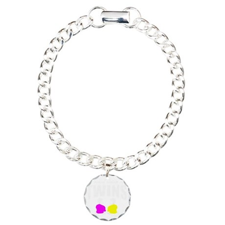 Proud sister of twins Charm Bracelet, One Charm