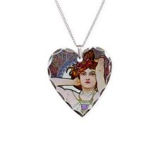 Mucha Necklace Heart Charm
