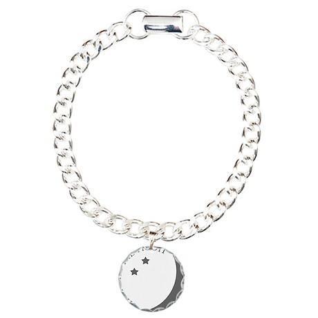 Hanging the Moon Grey Lo Charm Bracelet, One Charm