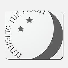 Hanging the Moon Grey Logo Mousepad