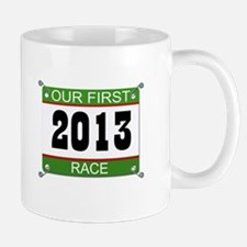 Our First Race Bib - 2013 Mug