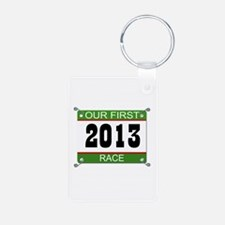 Our First Race Bib - 2013 Keychains