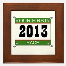 Our First Race Bib - 2013 Framed Tile
