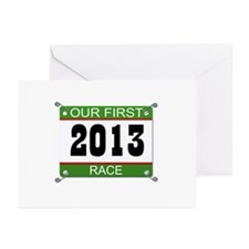 Our First Race Bib - 2013 Greeting Cards (Pk of 20