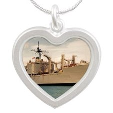 wplains framed panel print Silver Heart Necklace