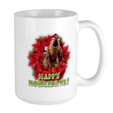 Redbone Coonhound baying Mug