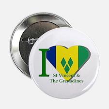 I love St Vincent flag Button