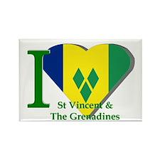 I love St Vincent flag Rectangle Magnet