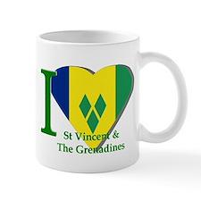I love St Vincent flag Mug