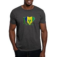 I love St Vincent flag T-Shirt