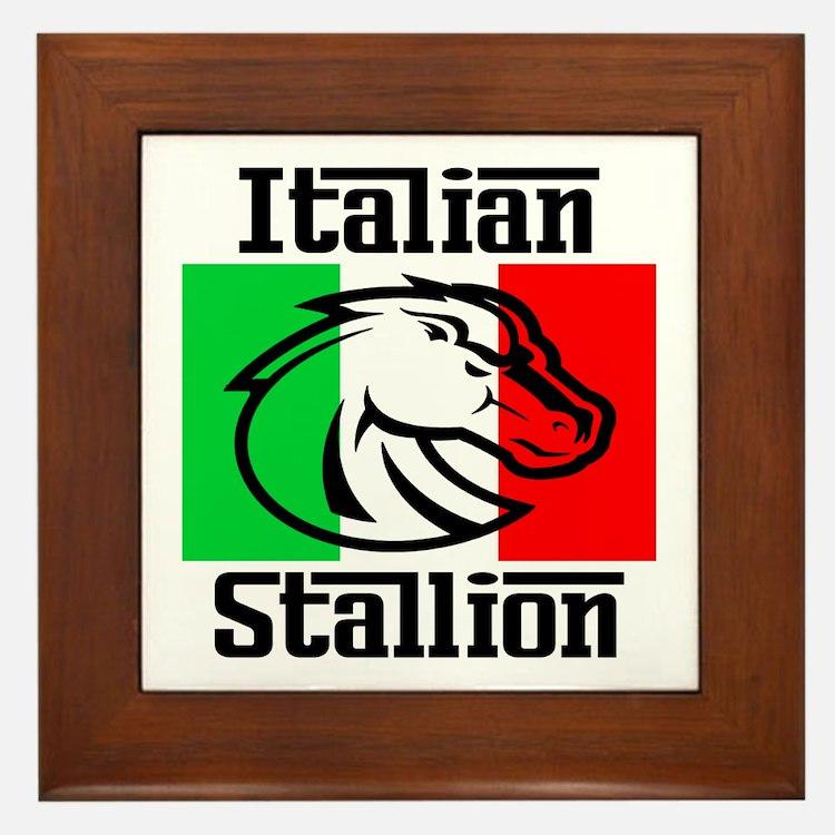 Italian Stallion Framed Tile