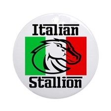 Italian Stallion Ornament (Round)