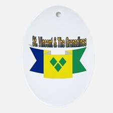 St Vincent & The Grenadines Ornament (Oval)