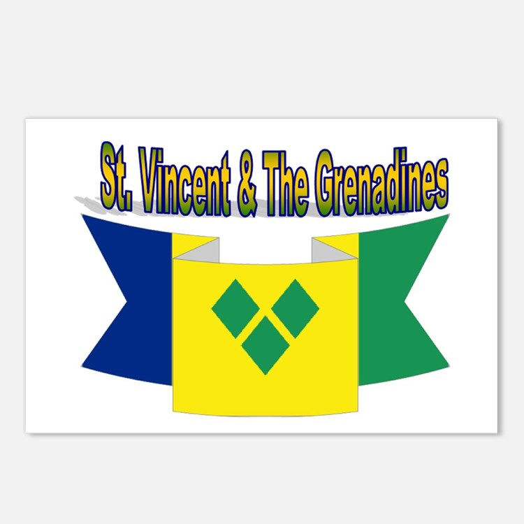 St Vincent & The Grenadin Postcards (Package of 8)