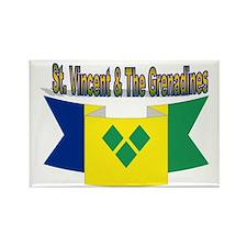 St Vincent & The Grenadines Rectangle Magnet