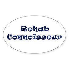Rehab Connoisseur Oval Decal