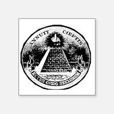 """Illuminati Giving the Finge Square Sticker 3"""" x 3"""""""