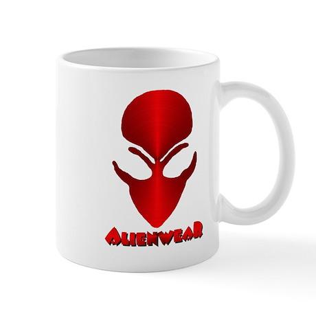 Red Metallic Alien w/Logo Mug