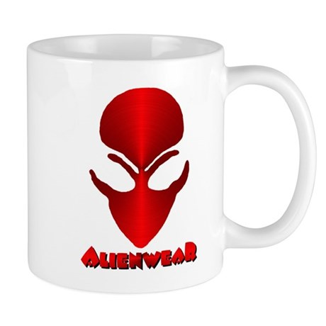 Red Metallic Alien w/Logo Mug
