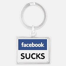 Facebook Sucks Landscape Keychain