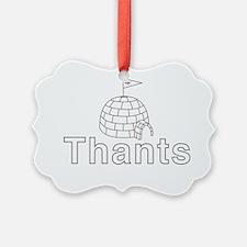 Thants Igloo Ornament