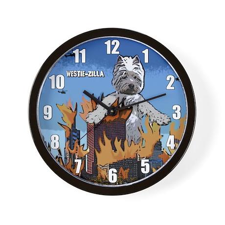 Westie-zilla Wall Clock
