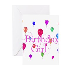 Birthday Girl Greeting Cards (Pk of 10)