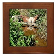 Creek Fairy Reflection Framed Tile