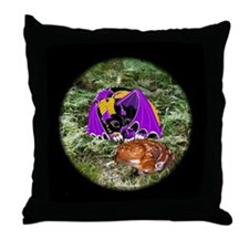 Dreamscape with Fawn Throw Pillow