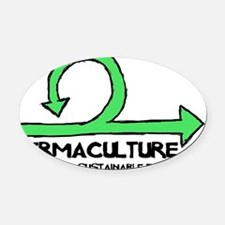 Permaculture: Designing A Sustaina Oval Car Magnet