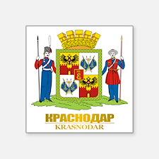 "Krasnodar COA Square Sticker 3"" x 3"""