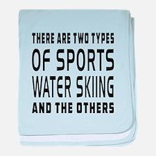 Water Skiing Designs baby blanket