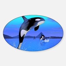 orca_stadium_hell_h_front Sticker (Oval)