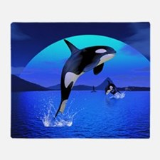 orca_pillow_case Throw Blanket
