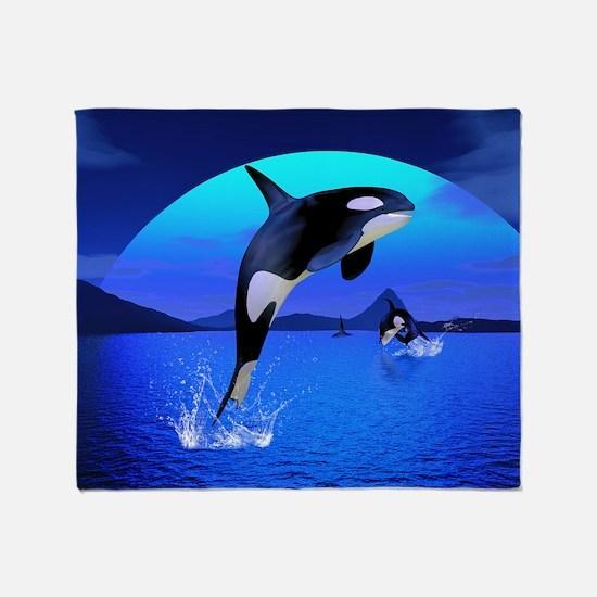 orca_pillow_case Throw Blanket