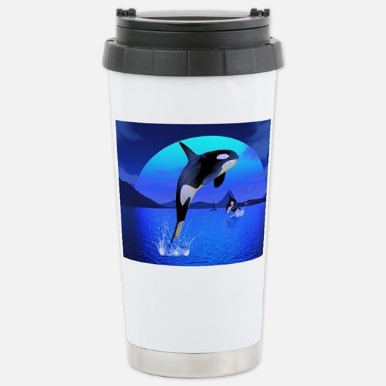 orca_pillow_case Stainless Steel Travel Mug
