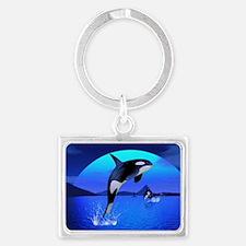 orca_pillow_case Landscape Keychain