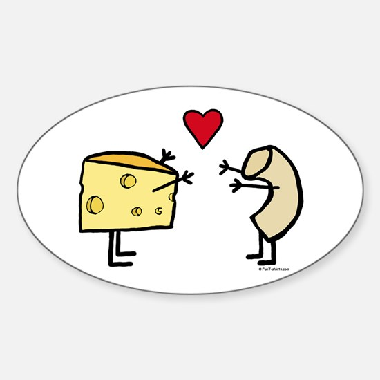 Macaroni and Cheese Love Sticker (Oval)