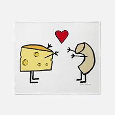 Macaroni and Cheese Love Throw Blanket