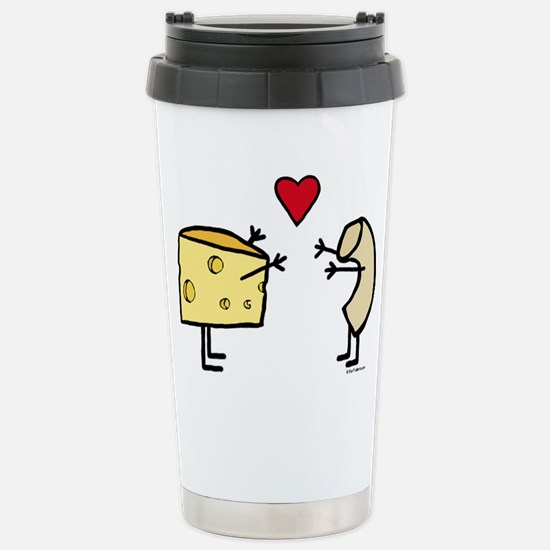 Macaroni and Cheese Lov Stainless Steel Travel Mug
